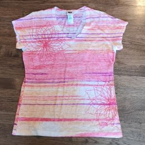 The North Face Tadasana Burn Out Watercolor  Tee